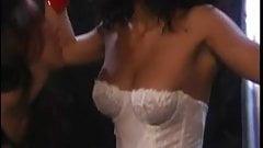 Jenna inspects bi-racial BDSM all girl fetish slapping